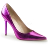CLASSIQUE-20 Orchid Metallic Faux Leather